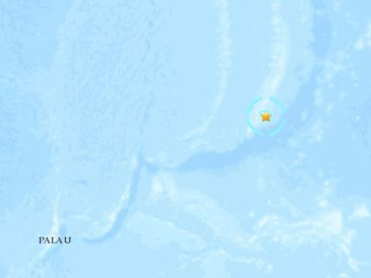 西太平洋關島附近發生5.6級地震震源深度67.5公里