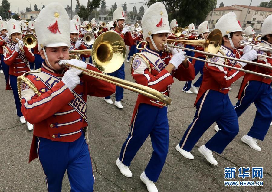 (国际)(5)洛杉矶举行马丁·路德·金纪念日游行
