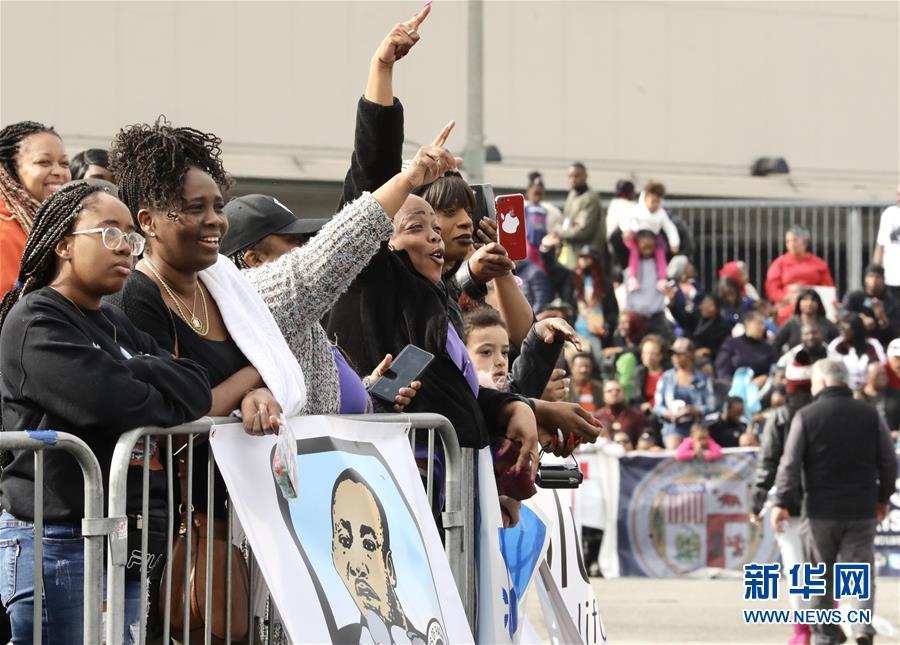 (国际)(1)洛杉矶举行马丁·路德·金纪念日游行