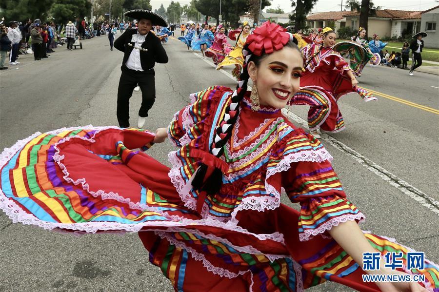 (国际)(3)洛杉矶举行马丁·路德·金纪念日游行
