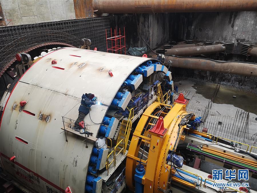 """(國際·圖文互動)(3)通訊:""""大國重器""""亮相莫斯科——中國11米級大盾構機在俄始發記"""