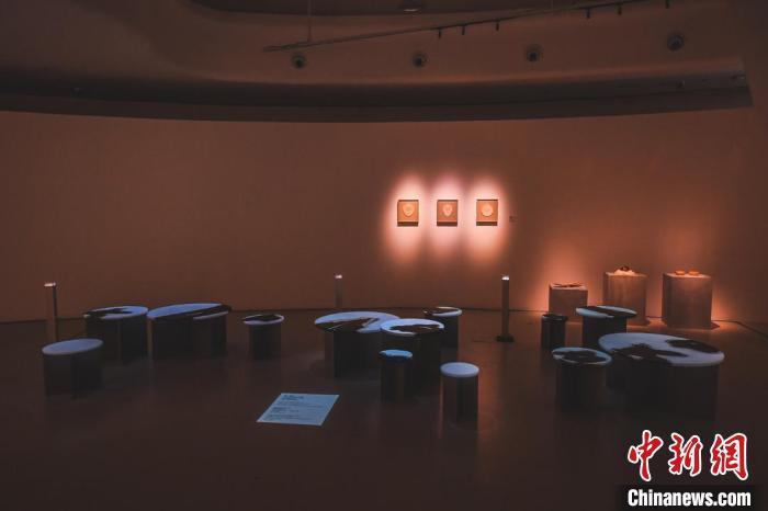 图为展览现场。 原美术馆供图 摄