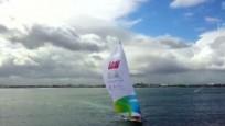 """克利伯帆船赛:""""三亚号""""展开澳大利亚赛段角逐 在澳洲受媒体市民关注"""