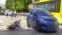 轿车与电动车相撞 致一名男子当场死亡