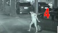 男子凌晨瘋狂劃車 小區監控拍下全過程