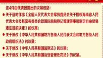 海南代表團以代表團名義向大會提交議案4件