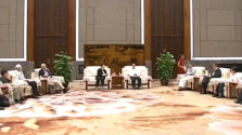 海南自贸区(港)总部经济规划专家研讨会举行 刘赐贵沈晓明与参会专家座谈