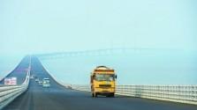 """港珠澳大桥开通在即 香港跨境""""桥巴""""蓄势待发"""