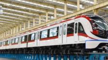 中国新一代中低速磁浮车下线 最大运行时速160公里