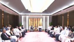 刘赐贵会见台湾新党主席郁慕明 李军出席