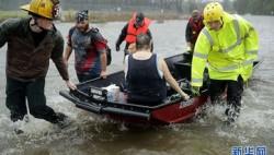 """飓风""""弗洛伦斯""""余威大 致灾区河流水位大涨"""