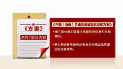 《中国(海南)自由贸易试验区总体方案》解读:坚持以开放为先 以制度创新为核心 赋予海南更大改革自主权