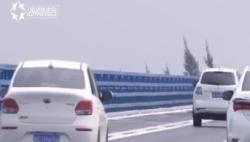 海文大桥通车:海口出发3条路线上桥 首日约3500辆车通行