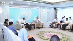 省政府与国务院发展研究中心工作组座谈 沈晓明出席