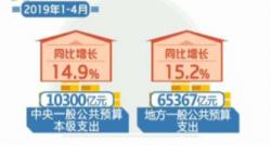 今年前4个月我国财政收入同比增长5.3%