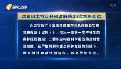沈晓明主持召开省政府第29次常务会议