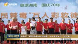 """海南2019国际禁毒日全民禁毒""""万人彩妆徒步""""活动举行"""