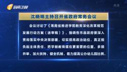 沈晓明主持召开省政府常务会议 研究学前教育事业发展等工作