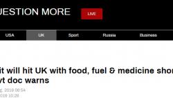 """英政府报告遭泄露:""""硬脱欧""""可能导致国内粮食、药品和燃料短缺"""