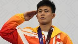 中国选手田争光获武汉军运会男子自由式摔跤65公斤级铜牌