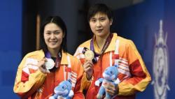 【军运会】游泳——女子800米自由泳:中国队包揽冠亚军