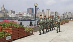 明珠塔下铸?#39029;稀?#35760;武警上海总队执勤第二支队执勤十八中队