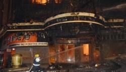 四川富顺一停业音乐会所发生火灾 60余名消防员紧急扑救