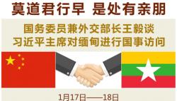 莫道君行早 是处有亲朋 ——国务委员兼外交部长王毅谈习近平主席对缅甸进行国事访问