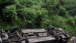 印尼一巴士发生侧翻致8人死亡 原因或系刹车失灵