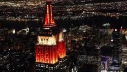 纽约帝国大厦将点亮彩灯庆祝中国鼠年春节