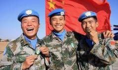 """中国413名维和官兵被联合国授予""""和平荣誉勋章"""""""