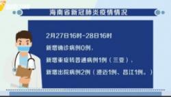 截至今天16时 海南新冠肺炎新增确诊病例0例 累计报告168例