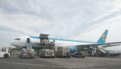 中国政府援助乌兹别克斯坦抗疫物资顺利交接