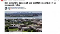 """美国联邦监狱系统""""中招"""" 多座监狱报告狱内工作人员感染病例"""
