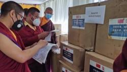 尼泊尔中华寺向尼佛教界和对华友好组织捐赠防疫物资
