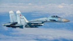 外媒:俄军两架苏27战机在黑海拦截美国空军轰炸机