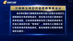 沈晓明主持召开省政府常务会议 研究优化电力接入等事项