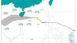 """台风三级预警:""""沙德尔""""将于24日傍晚到夜间擦过或登陆海南岛南部"""
