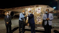 中国新冠疫苗运抵毛里求斯 中毛抗疫合作进入新阶段