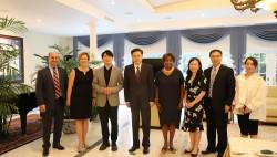 秦刚大使会见肯尼迪表演艺术中心总裁鲁特和钢琴家郎朗等中美文化界人士