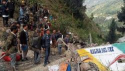 尼泊爾一輛大巴墜崖 造成至少28人死亡14人受傷