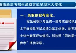 海南高考综合改革今年将首次落地 招生录取方式有六大变化