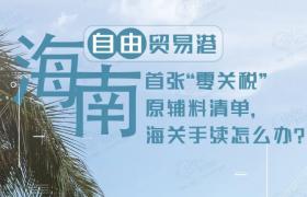 """海南自贸港迎来首票原辅料""""零关税""""货物"""