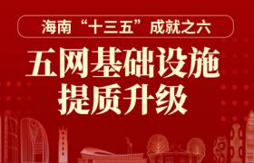 """一图读懂丨海南""""十三五""""成就之六:五网基础设施提质升级"""