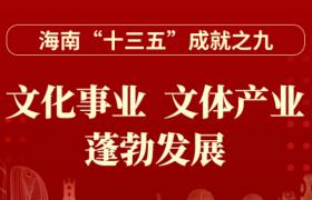 """一图读懂丨海南""""十三五""""成就之九:文化事业、文体产业蓬勃发展"""