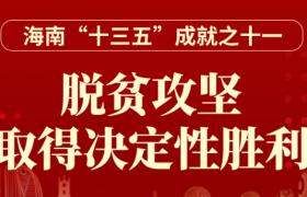 """一图读懂丨海南""""十三五""""成就之十一:脱贫攻坚 取得决定性胜利"""
