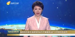 国务院同意在海南等四省市开展服务业扩大开放综合试点