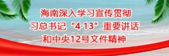 """海南深入学习宣传贯彻习总书记""""4·13""""重要讲话和中央12号文件精神"""