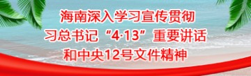 """海南深入學習宣傳貫徹習總書記""""4·13""""重要講話和中央12號文件精神"""