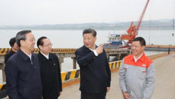 习近平总书记来到宜昌,深入长江沿岸考察